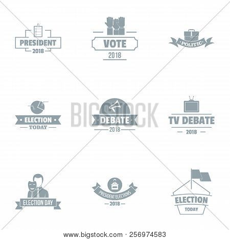 Vote Logo Set. Simple Set Of 9 Vote Logo For Web Isolated On White Background