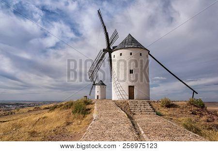 Windmills Of Don Quijote In Alcazar De San Juan. Castilla La Mancha. Spain.