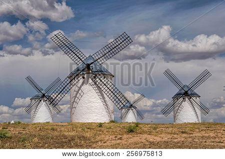 Windmills Of Don Quijote In Campo De Criptana. Castilla La Mancha. Spain.