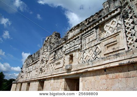 Ancient relief on the wall in Mexico