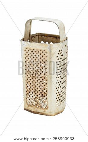 Old Metal Grater Isolated On White Background