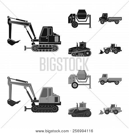 Vector Illustration Of Build And Construction Sign. Set Of Build And Machinery Stock Vector Illustra