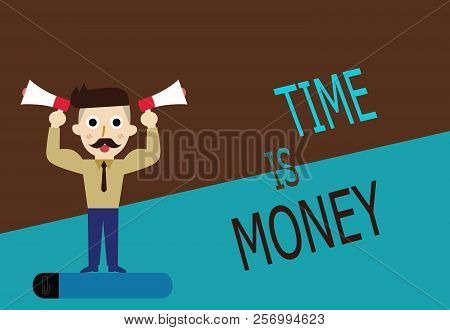 Conceptual Hand Writing Showing Time Is Money. Business Photo Text Better To Do Things As Quickly As
