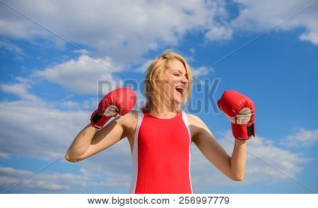 Girl Boxing Gloves Symbol Struggle For Female Rights And Liberties. Feminism Promotion. Fight For Fe