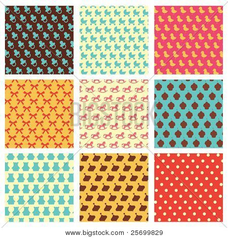 Children retro patterns