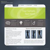 Vector website design,template poster