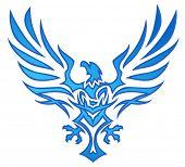 Blue Flame Eagle Tattoo poster