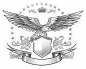 Spread winged eagle insignia poster