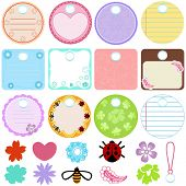 A Cute Collection of Blank Vector Labels. A set of pastel Tags Isolated on white. poster