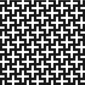A b&w vector patterns made with 'plus' sign. poster