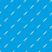 Injector pattern vector seamless blue repeat for any use poster