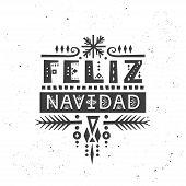 "Lettering poster ""Feliz Navidad"" (""Merry Christmas"", spanish) in ethnic style. poster"