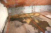 wet attic with moisture problems and many infiltrations from the roof poster