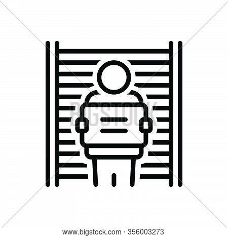 Black Line Icon For Defendant Respondent Jail Appellant Litigant Suspect Prisoner