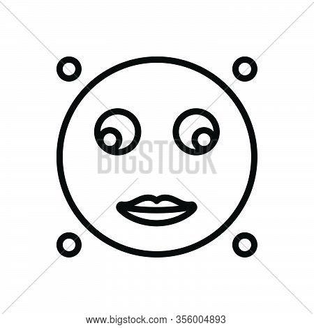 Black Line Icon For Glance Look-briefly Glimpse Peep Scintilla Emoji