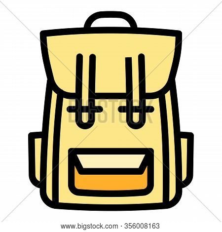 Carry Backpack Icon. Outline Carry Backpack Vector Icon For Web Design Isolated On White Background