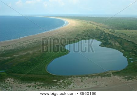 Aerial View Of Outerbanks North Carolina