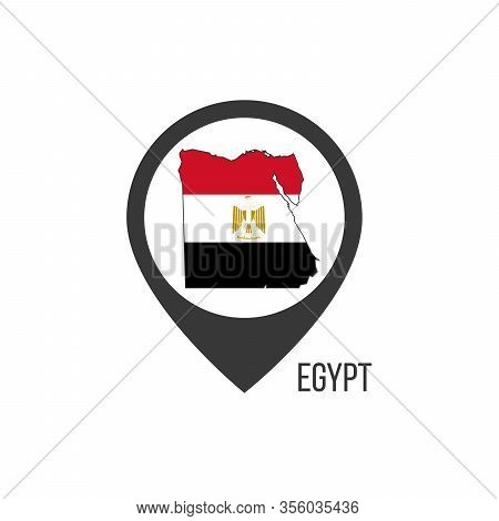 Map Pointers With Contry Egypt. Egypt Flag. Stock Vector Illustration Isolated On White Background.