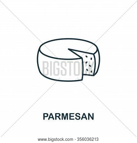 Parmesan Icon From Italy Collection. Simple Line Parmesan Icon For Templates, Web Design And Infogra