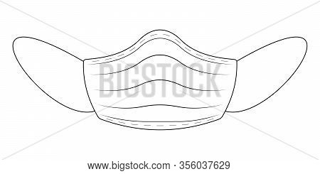 Medical Mask Flu Coronavirus, Vector Protective Medical Mask For Protection Against Airborne Coronav