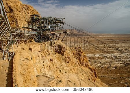 Cablecar Station On The Masada Fortress In Israel