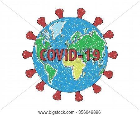 Pandemic Of Coronavirus Covid-19 A Vector Illustration