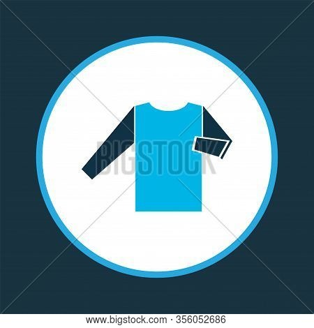 Knitwear Icon Colored Symbol. Premium Quality Isolated Sweatshirt Element In Trendy Style.