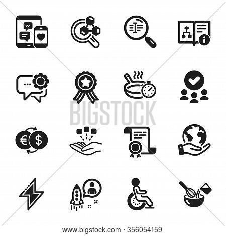 Set Of Business Icons, Such As Consolidation, Employees Messenger. Certificate, Approved Group, Save