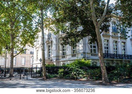 Paris - September 10, 2019 : Mansion Building In Parc Monceau