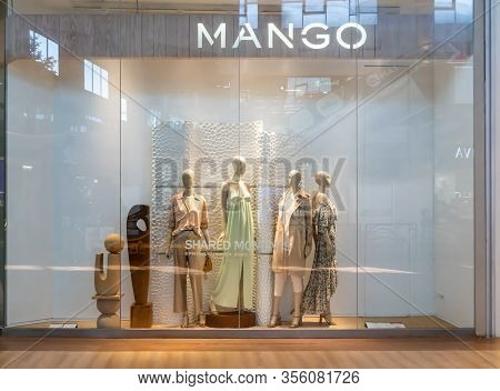 Mango Shop At Mega Bangna, Bangkok, Thailand, Mar9, 2020 : Luxury And Fashionable Mng Brand Window D