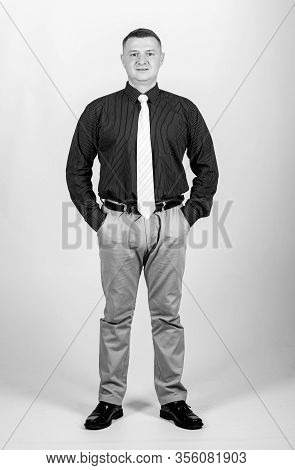 Businessman Lecturer Manager Office Worker. Formal Style Clothing. Corporate And Formal. Boss Direct