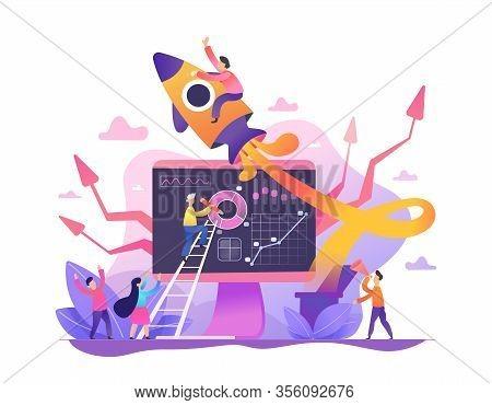 New Startup Business Project. Development Process. Innovation Product, Creative Idea. Start Up Launc