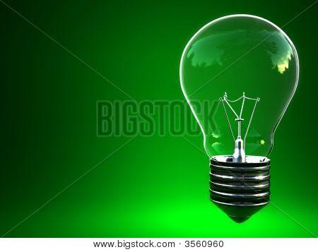 Bombilla de luz verde Eco