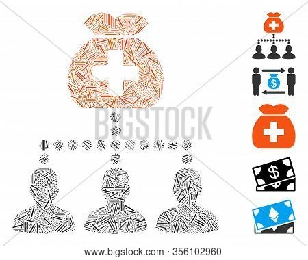 Line Mosaic Based On Medical Fund Clients Icon. Mosaic Vector Medical Fund Clients Is Composed With