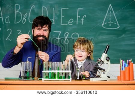 School Lesson. Chemical Experiment. Difficult Focus And Complete School Tasks. Symptoms Of Adhd At S