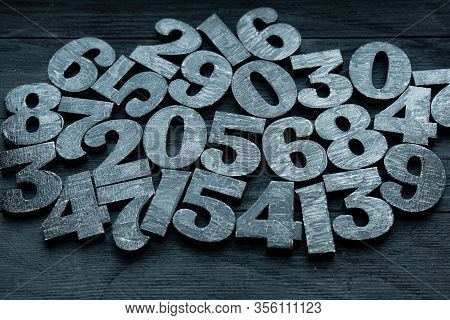 Background Of Numbers. From Zero To Nine. Numbers Texture. Finance Data Concept. Mathematic. Seamles