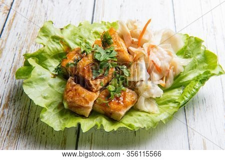 Stinky Tofu Is A Chinese Form Of Fermented Tofu That Has A Strong Odor.