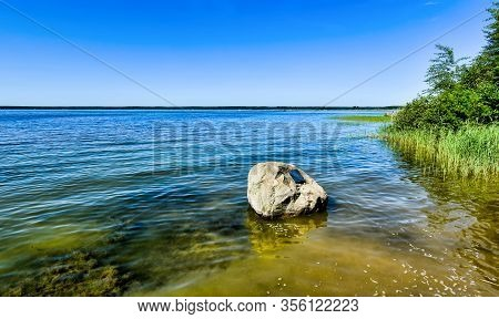 Shore Of Lake Fleesensee, Part Of The Mecklenburg Lake District In The Federal State Of Mecklenburg-