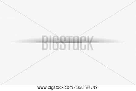 Vector Illustration Of White Paper Cut Element