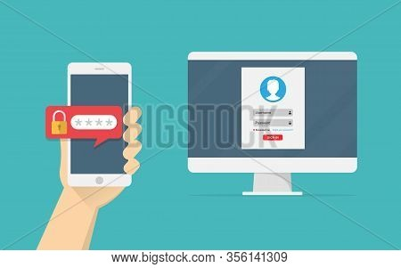 Two Step Authentication Vector Illustration