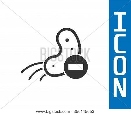 Grey Negative Virus Icon Isolated On White Background. Corona Virus 2019-ncov. Bacteria And Germs, C