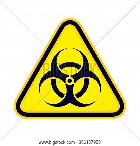 Biohazard Sign (danger Caution Sign). The Pandemic Disease Spread Symbol.