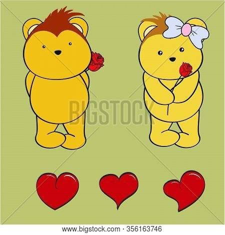 Cute Lovely Porcupine Boy And Girl Cartoon Set In Vector Format Very Easy To Edit