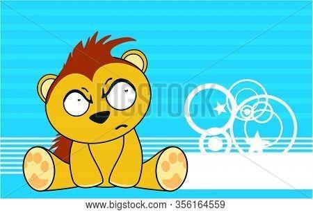 Cute Kawaii Porcupine Cartoon Background In Vector Format
