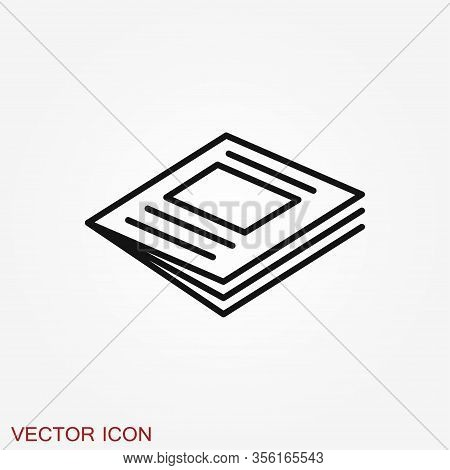 Magazine Icon Vector Illustration - Magazine And Newspaper Symbol