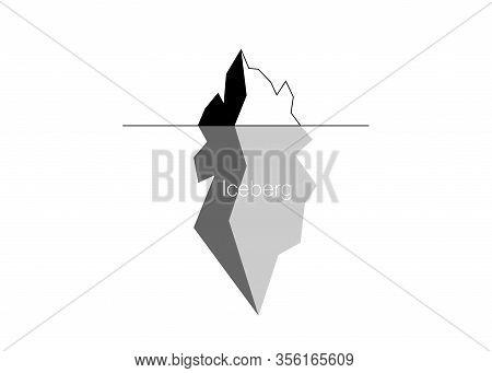 Iceberg Vector Icon Isolated On White Background. Ice Berg Vector Icon, Clip Art