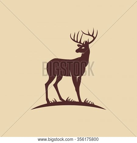 Deer logo, Deer vector Logo element. Deer design icon. Deer Vector illustration. Deer emblem logo. Deer icon flat design. Deer Simple Logo Symbol Template. Deer logo illustration. Creative vector logo design template. Icon Eps10