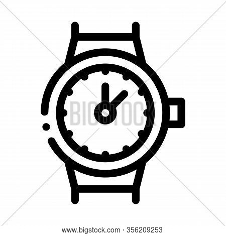 Swiss Watches Icon Vector. Outline Swiss Watches Sign. Isolated Contour Symbol Illustration