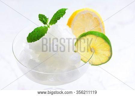 lemon and lime sorbet sorbet with mint