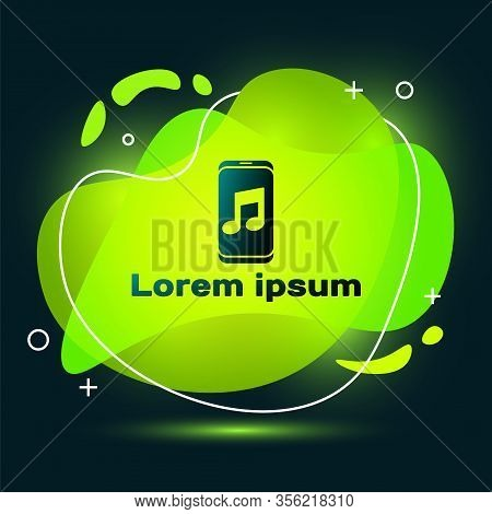 Black Music Player Icon Isolated On Black Background. Portable Music Device. Abstract Banner With Li